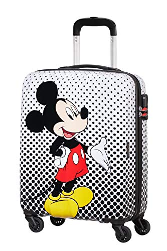 American tourister disney legends spinner s bagaglio a mano per bambini, 55 cm, 36 l, multicolore (mickey mouse polka dot)