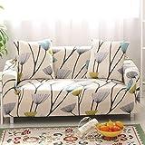SSDLRSF Universalgröße 1/2/3/4 Sitzer Stretch-Sofabezug Druckblume Sofa deckt Überzüge Couch Abdeckung Möbel Heimtextilien (90-300cm), B6105,1 Sitzer 90-140cm