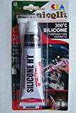 Technicqll Liquid Gasket Mastic adhésif en silicone haute température Thermorésistant jusqu'à 300°C 70ml Rouge