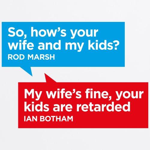 Botham vs Marsh T-Shirt, Herren Wei