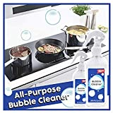 Kitchen All-Purpose Bubble Cleaner, Multi-Function Grease Cleaner Foam Cleaner Heavy Duty Cleaner, Foam Spray Mould Remover Apply in Home Kitchen Car Grill Bath Spa Tile (200ML)