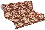 rasch Vlies-Tapete, goldene Blumenranken auf rotem Grund, klassisches Muster, Trianon XI 515107