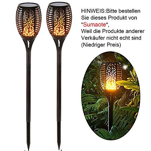 SUMAOTE Solar Garten Licht, Solarleuchten 96 LED Bis Dawn Automatische Ein / Aus(Licht Sensor), spotlight Gartenleuchte licht garten beleuchtung soalr spotlight Außen warmlicht Wasserdicht IP65