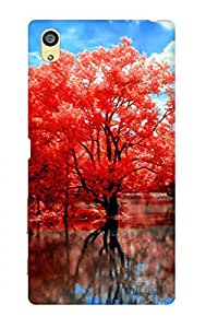 AMAN Red Tree 3D Back Cover for Sony Xperia Z5 Premium