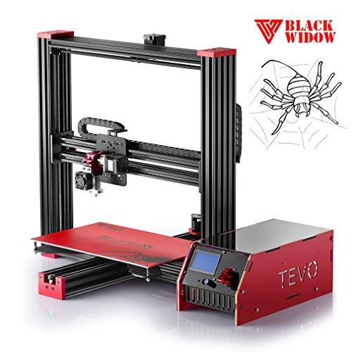 Tevo 3D-Drucker DIY Team Aluminium Rahmen Black Widow Hohe Präzision Ergreifen für MKS Mosfet Heizung Treiber Microstep Extrusora LCD Display 370x250x300 mm (Motorhalter Rahmen)