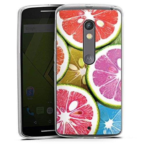 DeinDesign Lenovo Moto X Play Silikon Hülle Case Schutzhülle Orange Lemon Swets