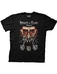 Attack on Titan Titan in Shadows Adult Black T-Shirt