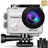 Crosstour Caméra de Sport 4K Wi-FI Ultra HD Étanche 2'LCD 30M sous-Marine 170°...