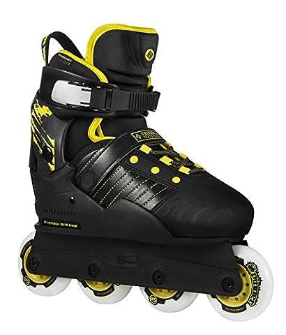 USD Kids Transformer PB verstellbare Inline Skates schwarz-gelb Kinder schwarz-gelb, 37-40
