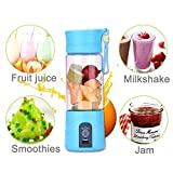 Shopping Tadka 380ml Multifunctional Portable Rechargeable Electric Water Bottle Juicer