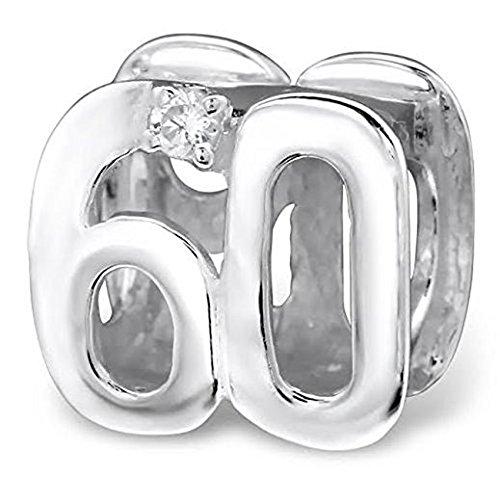 Katy craig ltd - ciondolo per 60 ° compleanno in argento sterlingcon gemme di cristallo, un esclusiva katy craig ltd
