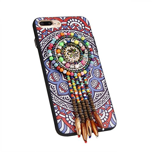 Ouneed® For iPhone 7 Plus Hülle, Exotic Fashion Bohemia Rhinestone Boutique Beads Phone Case Cover für iPhone 7 Plus 5.5 Zoll (5.5 Zoll, E) E