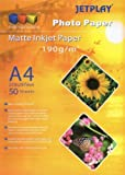 Jetplay A4 MATT INKJET PHOTO 1 Pack-190 gsm PAPER 50 Sheets Compatible with all Inkjet Printers