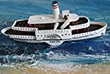 Unbekannt Schiffsmodell Raddampfer Freya Miniatur Boot Schiff ca. 12 cm