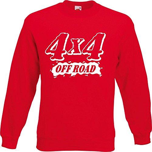 Pullover - 4x4 Quattro Rot