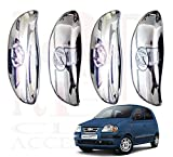 #6: RedClub Presents Car Door Handle Catch Covers (Chrome) [Made in India] for Santro Xing with Complimentory 01 Pair of RedClub Blind Spot Mirrors + RedClub Pen Free