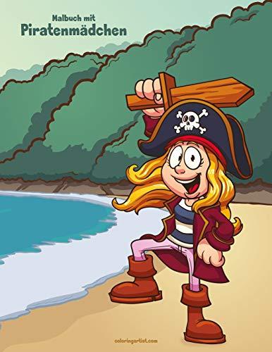 Malbuch mit Piratenmädchen 1