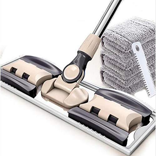 Mop piatti set di mop e secchi piani mop per la pulizia dei pavimenti secchio di polvere swob magic & easy & scopa in microfibra tamponi in fibra superfini rotanti c