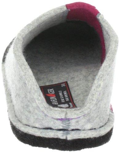 Haflinger Puzzle 311031 Unisex - Erwachsene Pantoffel Grau (steingraumeliert 284)