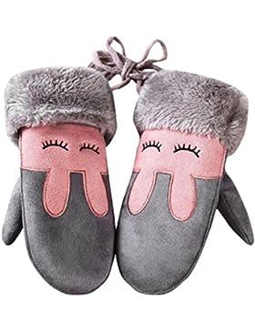 lenfesh bambino ragazzo ragazza inverno caldi guanti carino bambini pieno Finger Guanti muffole, Bambina, Grau