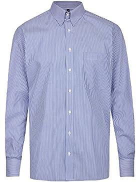 Eterna Herren Hemd Comfort Fit Tabkragen blau / weiß 4036 E186 16