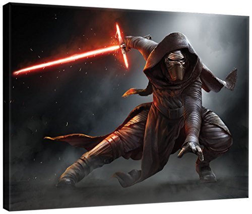 Delester Design PPD1911O1 Bild, Star Wars VII Das Erwachen der Macht, mehrfarbig, 100,0 x 3,0 x 75,0 cm