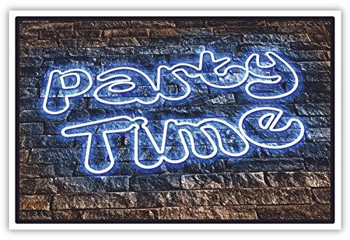 SCHILDER HIMMEL Party Schild (unbeleuchtet!) 30x21cm Kunststoff mit Schrauben, Nr 229 in verschiedenen Größen (A0 bis A5) und Materialien