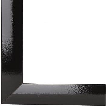 rahmencenter24 bilderrahmen capry 70x100 cm oder 100x70 cm in schwarz hochglanz. Black Bedroom Furniture Sets. Home Design Ideas