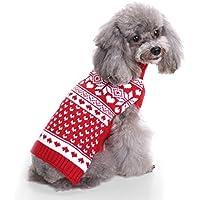 Jersey con capucha de la marca Aisuper para mascotas pequeñas o grandes, patrón cálido de otoño - invierno, ropa de fiesta. Tallas desde la S a la 2XL