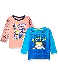 AFL Baby-Boy's Regular fit T-Shirt (Pack of 2)
