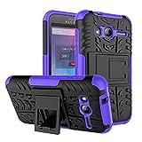 Alcatel U3 3G 4049X Purple Dual Layer Hybrid Tough Rugged