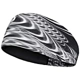 Odlo Damen AOP Fw18 Wide Light Stirnband, Black, One Size