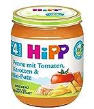 HiPP Menüs nach dem 4 - ab 6. Monat, Penne mit Tomaten, Karotten & Bio-Pute, 6er Pack (6 x 125 g)