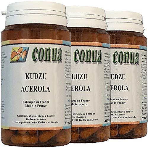 3er Set: Kudzu, Acerola 120 Kapseln Belastungs Alkohol Tabak