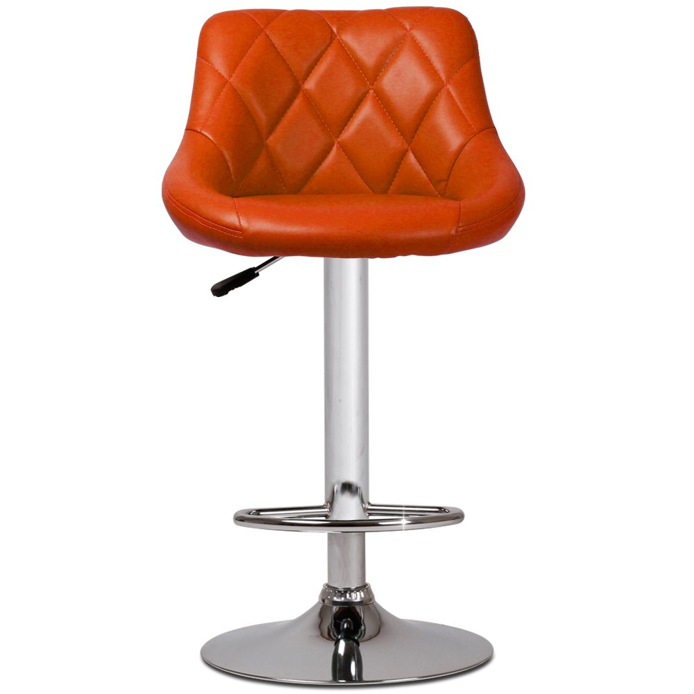 Swivel bar stool footrest height adjustable counter chair for Counter height swivel bar stools