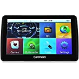 [New Release] CARRVAS 7.0 Inch SAT NAV/ Car GPS Navigation System LCD Touch Screen/ Multimedia Player/ FM transmitter/ with UK and Europe Maps 8GB 128MB