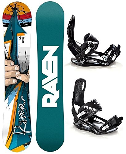Snowboard Set: Snowboard Raven Dart + Bindung Raven s220 Black XL