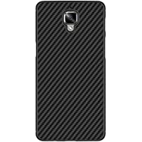 Cover OnePlus 3T / OnePlus 3, Nillkin Super Slim Light Protective Caso with fibra di carbonio Back and Built-in Iron Sheet, Compatible With Magnetic Car Holder / Mount, Nero