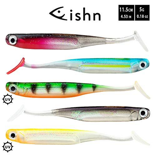 FISHN LUIREone - 5 Gummifische 11,5cm, 5gr zum Angeln on Zandern, Barschen, Hechten und Forellen