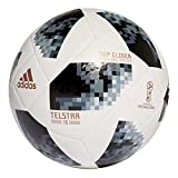 #6: Adidas World Cup TGLID Synthetic Football, Men's Size 5 (White/Black/Metallic Silver)