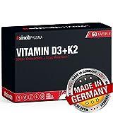 #sinob Vitamin D3 + K2. 5000 I.E + Vitamin K2 Menaquinon MK7 Depot - Für Vegetarier Und Veganer geeignet. 1 x 60 Kapseln