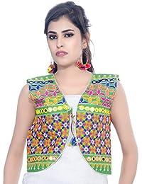 Banjara Women's Jacket (SJK-BLT07_Green_Free Size)
