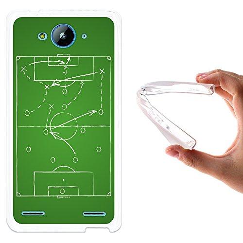 ZTE Blade L3 Plus Hülle, WoowCase Handyhülle Silikon für [ ZTE Blade L3 Plus ] Strategie Fußballtisch Handytasche Handy Cover Case Schutzhülle Flexible TPU - Transparent