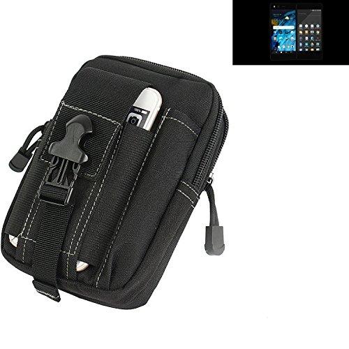 K-S-Trade Gürtel Tasche für ZTE Axon M Gürteltasche Schutzhülle Handy Hülle Smartphone Outdoor Handyhülle schwarz Zusatzfächer