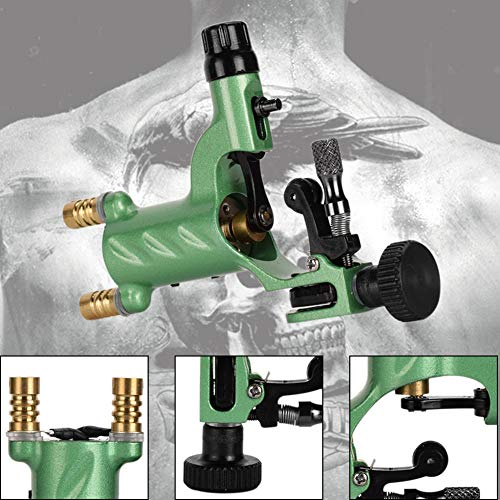trick es Day, Aluminum Dragonfly Rotary Tattoo Machine Shader Liner Motor Gun for Artists-Green ()