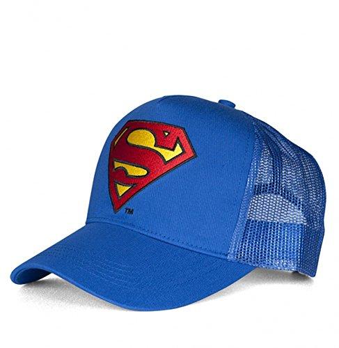 DC und Marvel Comics Superhelden Basecaps Trucker Mesh CAPS LOGO Motiv AUSWÄHLBAR (Superman)