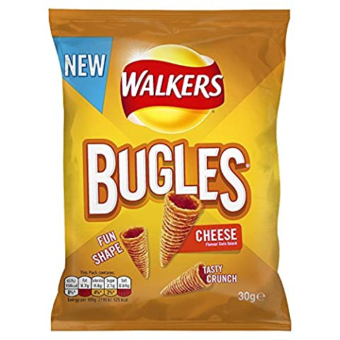 Walkers Bugles Cheese Snacks, 30 g, Pack of 32