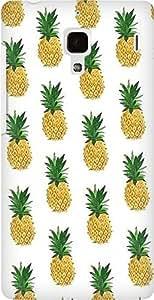 AMEZ designer printed 3d premium high quality back case cover for Xiaomi Redmi 2s (pineapples)