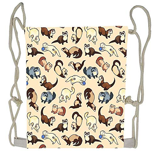 Naiyin Cat Snakes Drawstring Bag Men Womens Gym Backpack Vintage Small Bags for Youth
