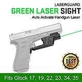 HKANG Llegada Verde Mira Láser para 1911 Kimber y Smith & Wesson 1911 Tamaño Completo para...